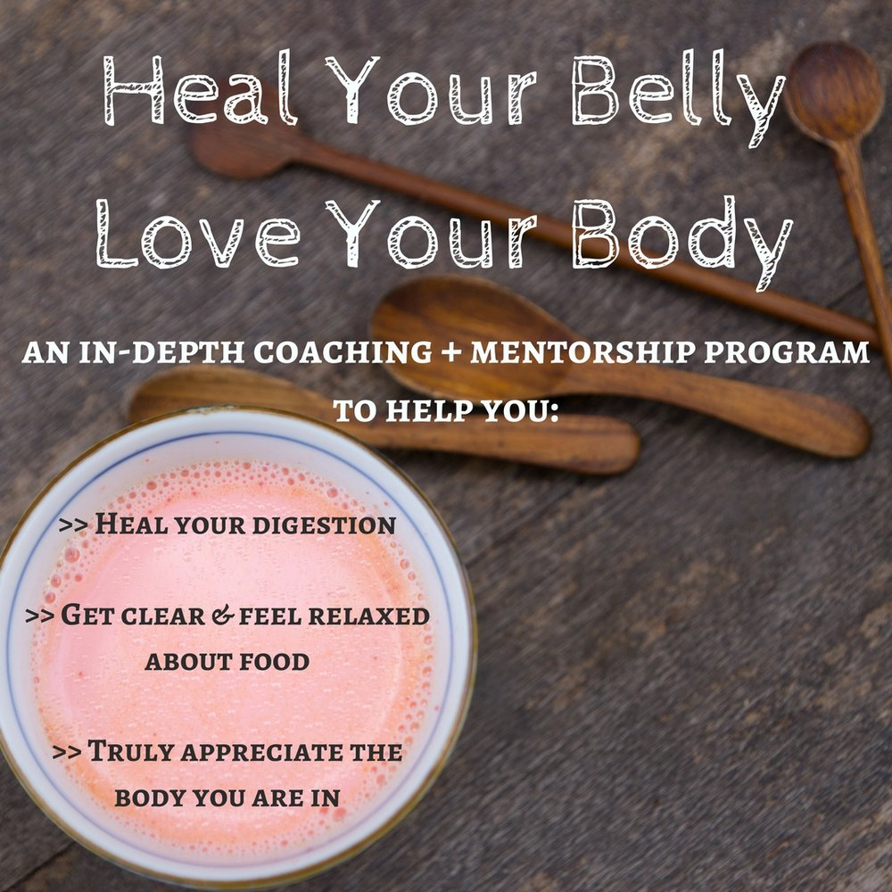 If you struggle with digestive issues (including severe bloating and gas, diarrhea, acid reflux and constipation, whatever your diagnosis) and you also have a stressful, complex relationship with food and your body, this program is designed for you.