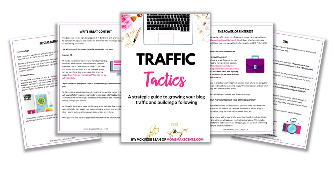 Traffic Tactics - Free twenty-five page blog traffic ebook