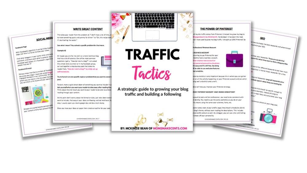 Traffic Tactics - Free twenty-five page blog traffic ebook