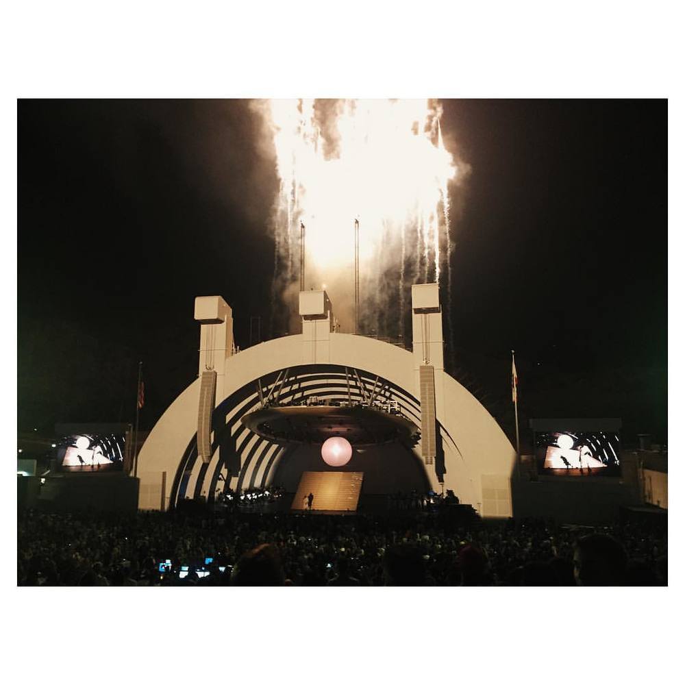 #tbt to Ye at the #hollywoodbowl for #808s  w/ @dagkore and @sloanehayes and fuuuuuuuuuuuuun.
