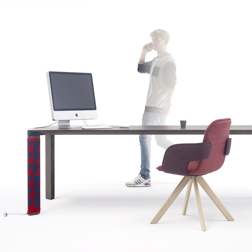 Joy Table ,  Flux Chair  and  Cable Sock .