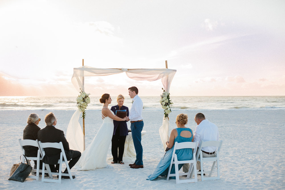 Beautiful, sunny, and intimate Florida beach wedding at sunset. Ashley Pieper Photography, St. Louis  documentary Wedding photographer for the genuine couple in love.