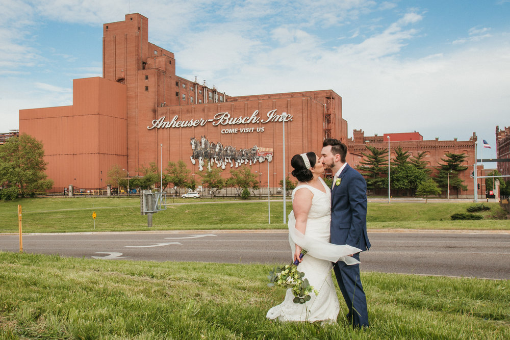 A fun, summer St. Louis anheuser busch bewery wedding. Ashley Pieper Photography, St. Louis  documentary Wedding photographer for the genuine couple in love.