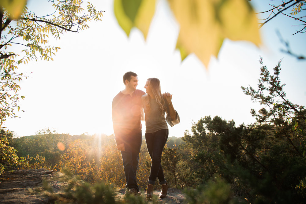 Adorable and Happy Sunrise Engagement session in Columbia, Missouri with Ashley Pieper Photography. St. Louis based traveling and destination wedding photographer for the genuine and creative couple in love.