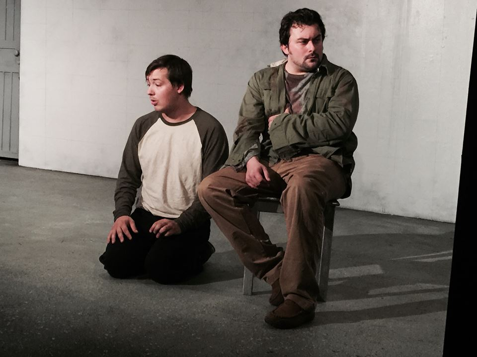 The Pillowman, Michael played by Kyle Kirkpatrick, and Katurian played by Kirk Gostkowski.jpg