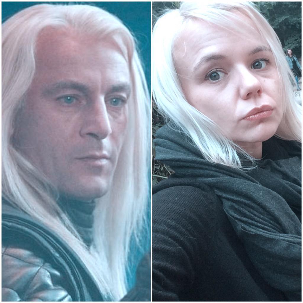 Alana as Lucius Malfoy