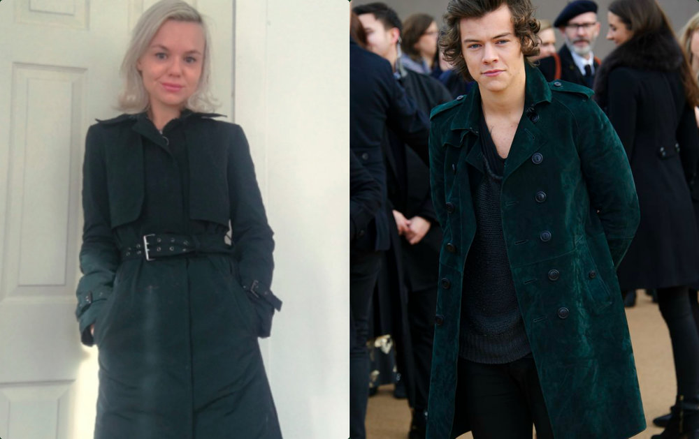 Alana Massey Harry Styles Green Trench.jpg
