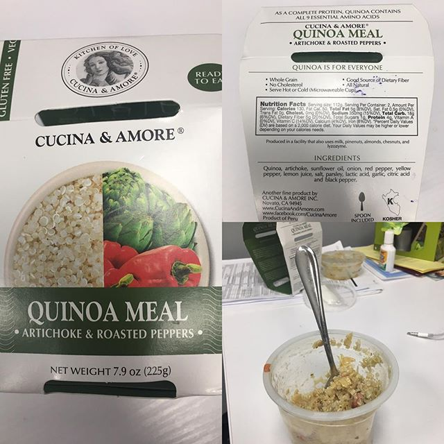 Just when I thought @wholefoods couldn't make me any happier...I found this! Yummy quinoa meal for people on the go- it even came with a spoon. Too much sodium for sure but good ingredients otherwise 👍🏻👩🏼‍🌾Find new ways to make healthy food choices...AND don't make excuses that you are too busy 🙅🏼 #cleaneating #healthyfamily #healthylife #healthmotivation #findyourbalance #wholefoods
