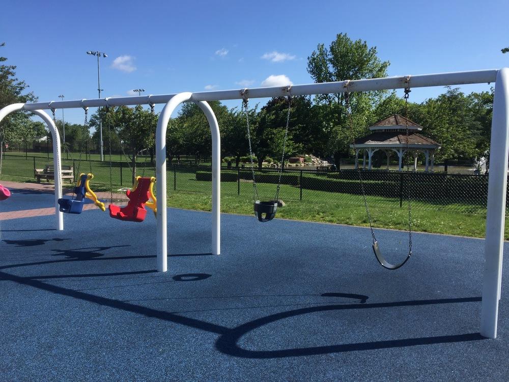 Swings at Babylon Town Park