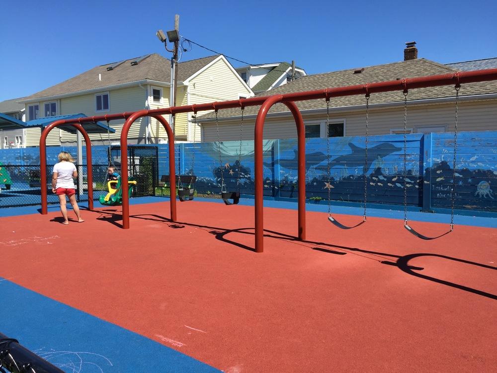 Swings at Georgia Ave Playground