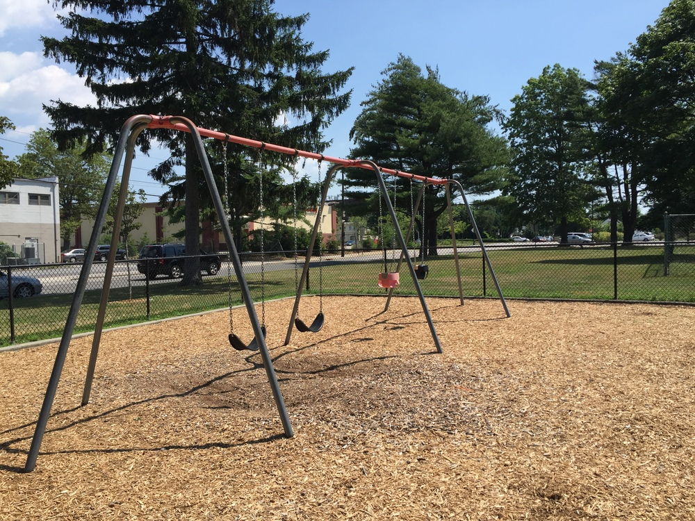 Swings at Blue Grass Lane Park