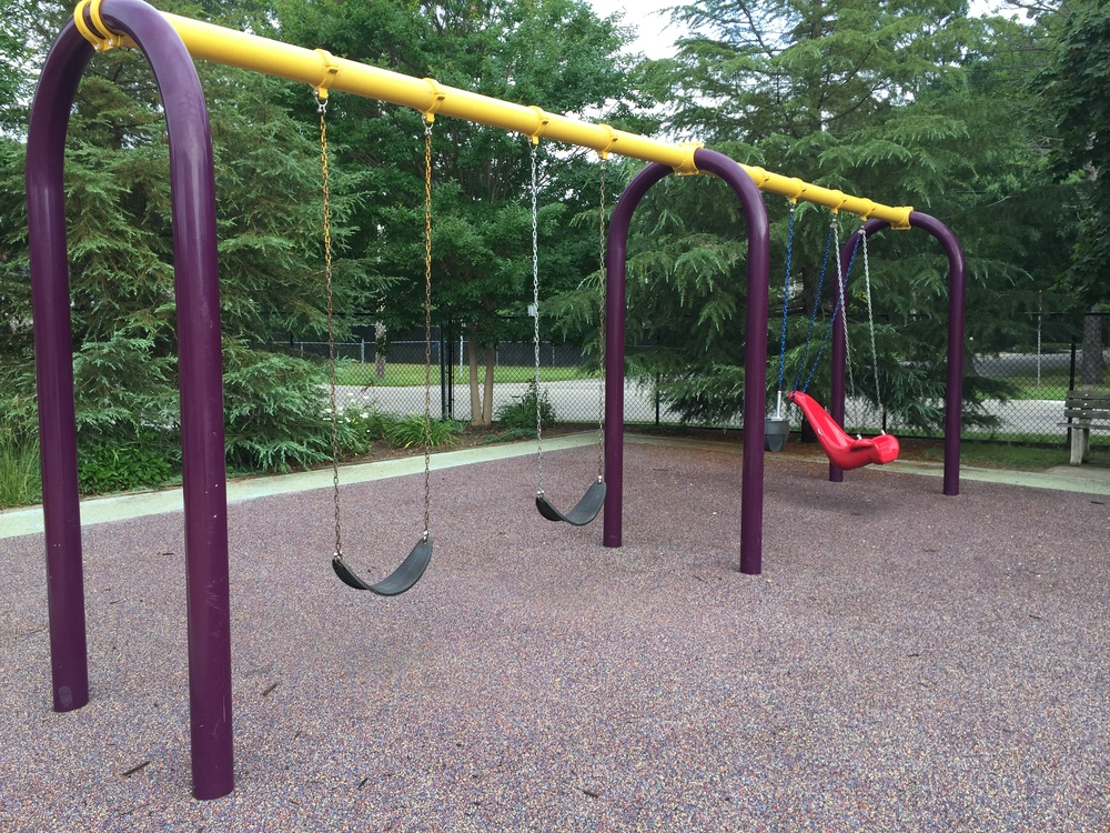 Swings at Pine Acres Playground