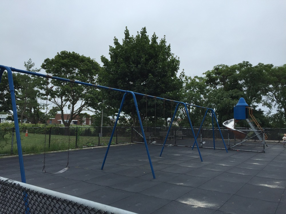 Front playground swings at Wantagh Park