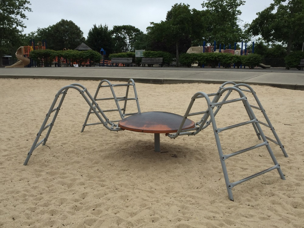 Front playground spider at Wantagh Park