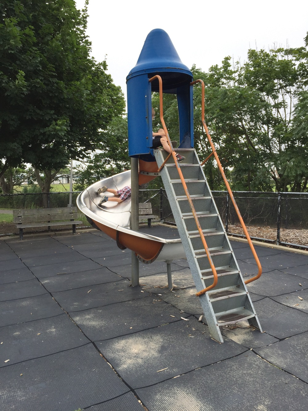 Metal slide at Wantagh Park