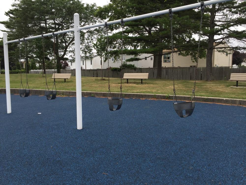 Marina playground swings at Wantagh Park
