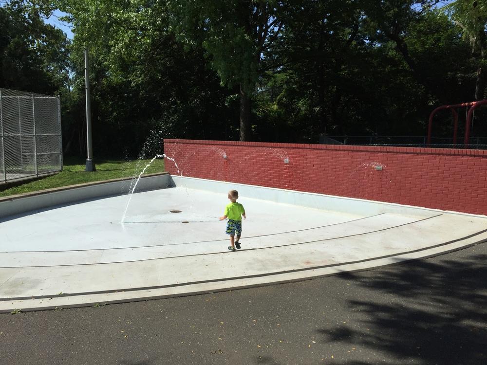 Sprinkler at Smith Street Park
