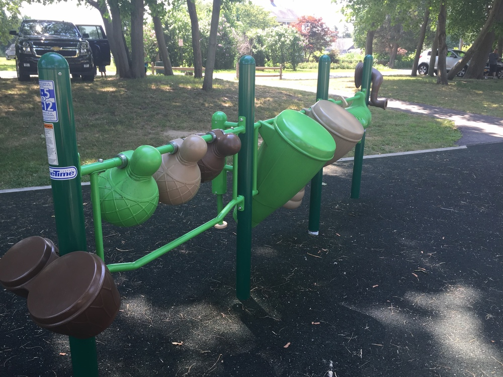Musical features at Reichert Family Community Playground