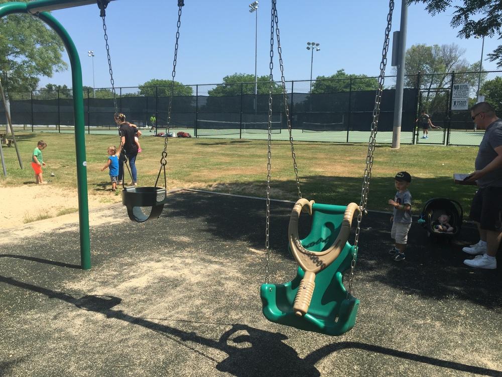 Swings at Reichert Family Community Playground