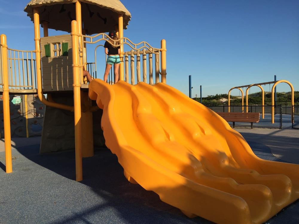 Slides at Nickerson Beach Playground