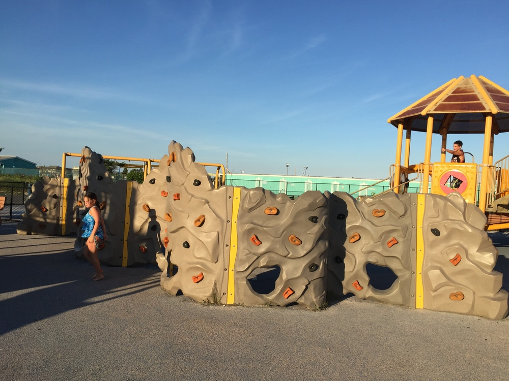 Rock Climb at Nickerson Beach Playground