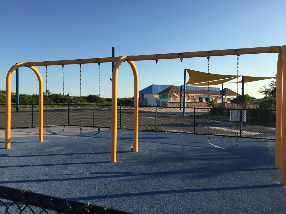 Swings at Nickerson Beach Playground