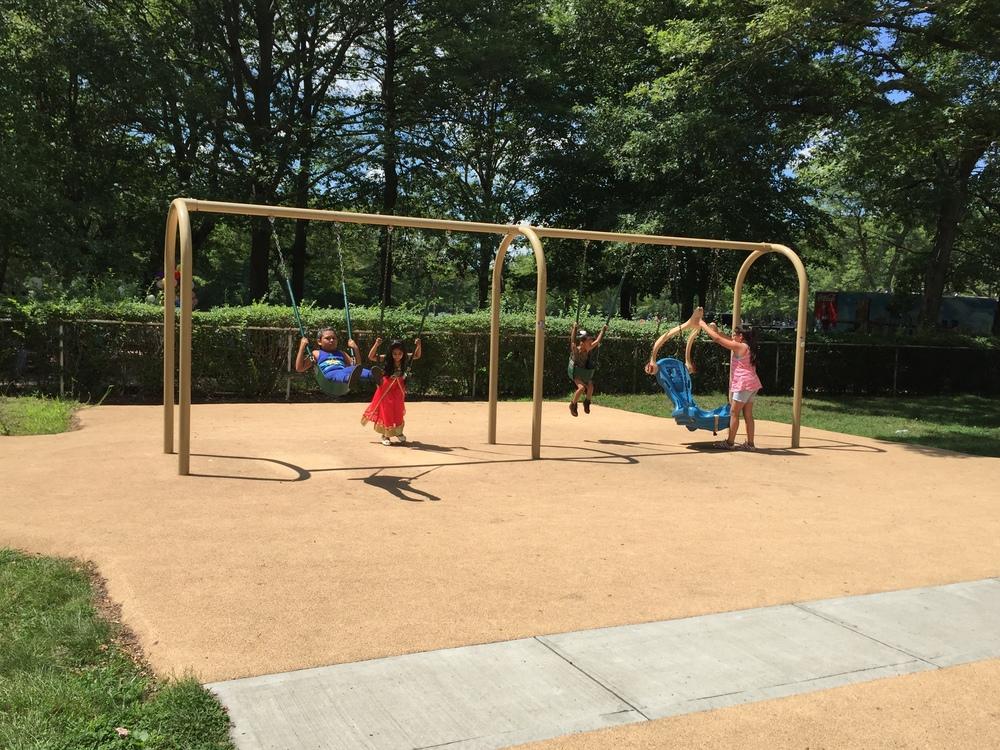 Swings at Belmont Lake State Park