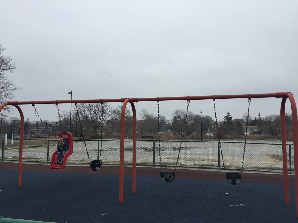 Swings at Centennial Playground
