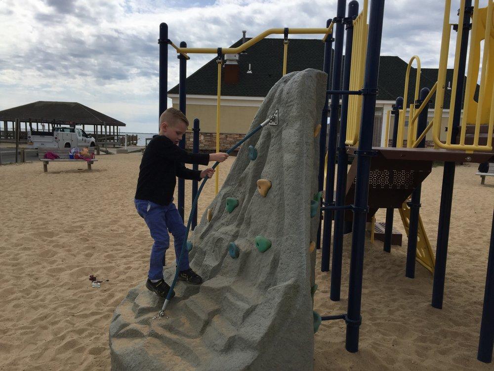 Rock Climb at East Islip Marina Park Playground