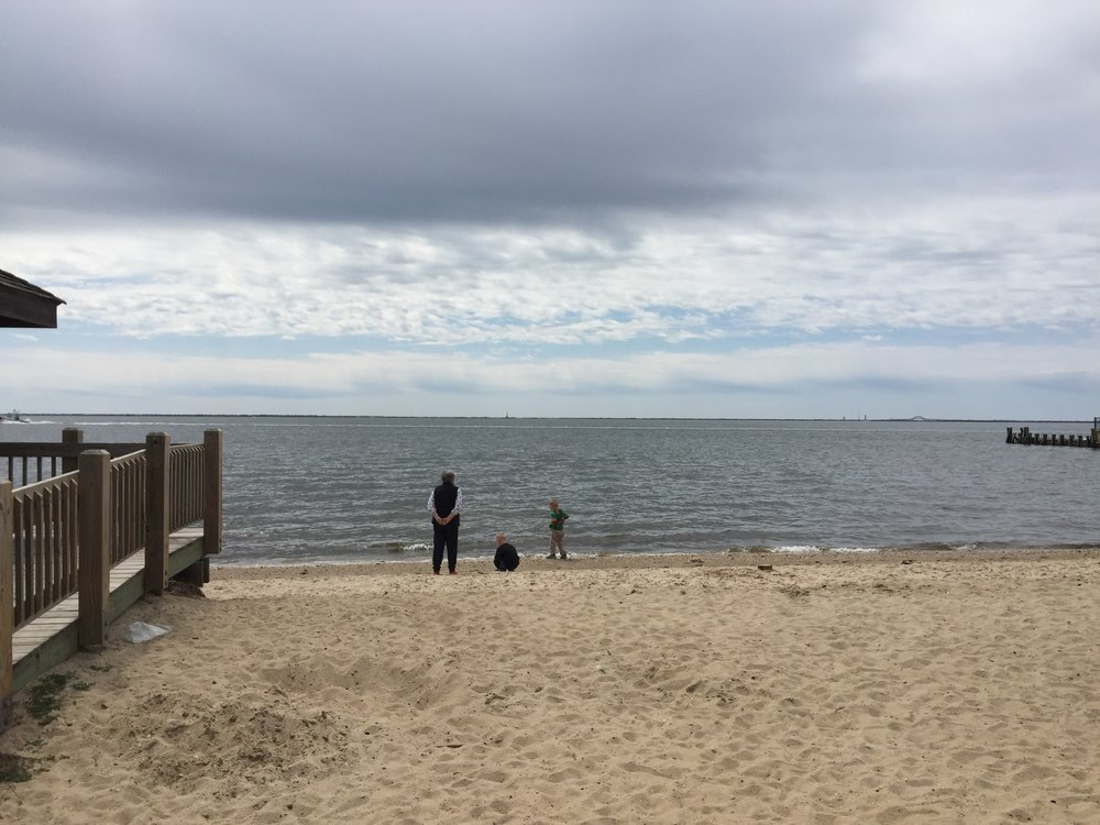 The beach at East Islip Marina Park