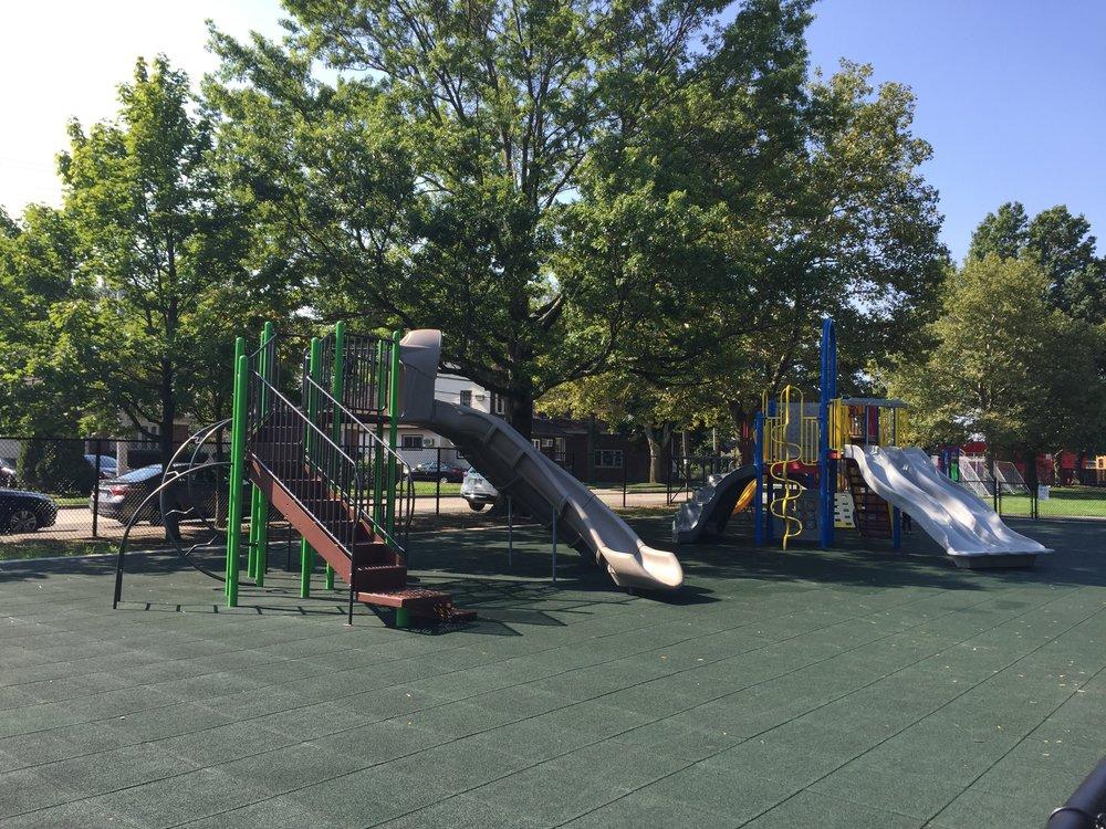 Greis Park Playground Slides