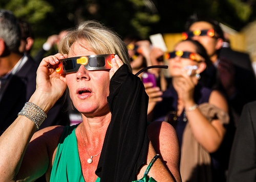 """The only safe way to look directly at the uneclipsed or partially eclipsed sun is through special-purpose solar filters, such as ""eclipse glasses"" or hand-held solar viewers."""