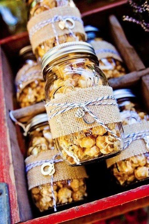 Fall wedding favors annabelle events event planning wedding caramel popcorn junglespirit Gallery
