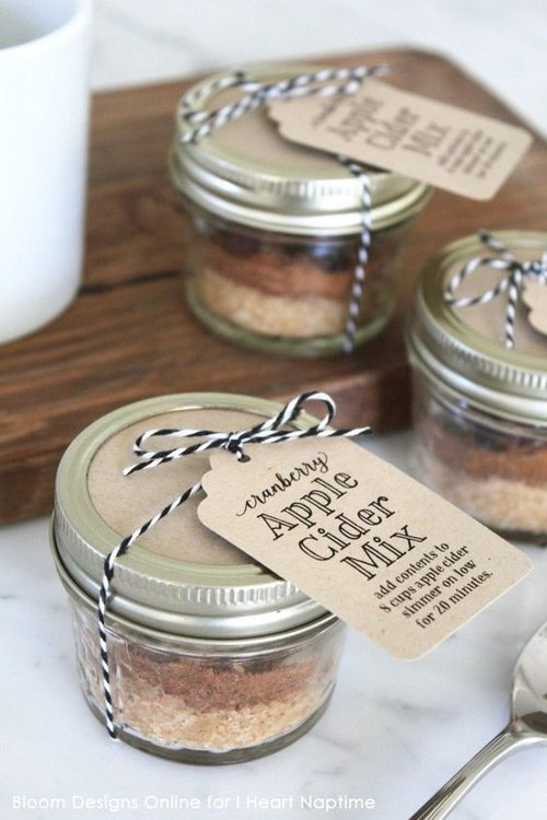 Fall wedding favors annabelle events event planning wedding apple cider mix junglespirit Image collections