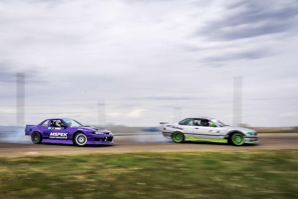tandemdrift 240sx vs bmw car photography Brian Laiche