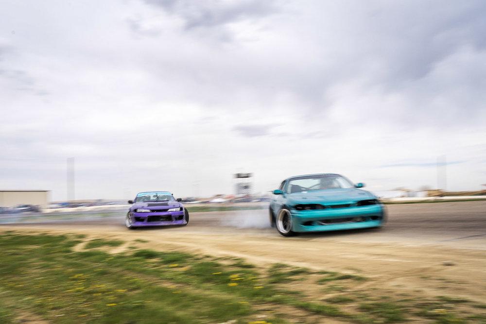tandemdrifting 240sx s14 vs s13 car photography Brian Laiche