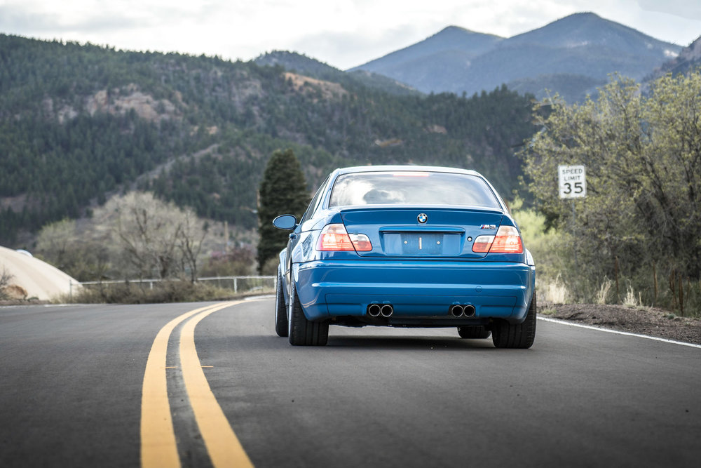 bmw e46 m3 rear car photography brian laiche