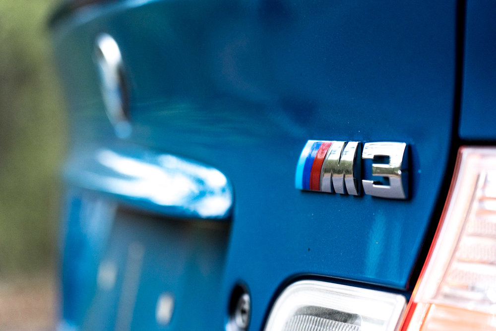 bmw e46 m3 badge detail car photography brian laiche