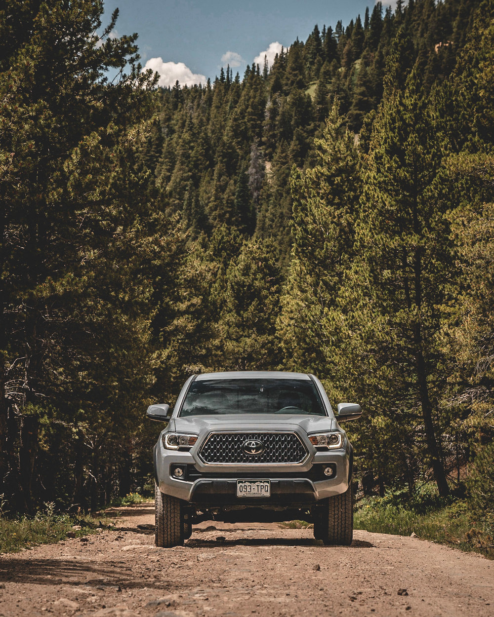 cement grey Toyota Tacoma front