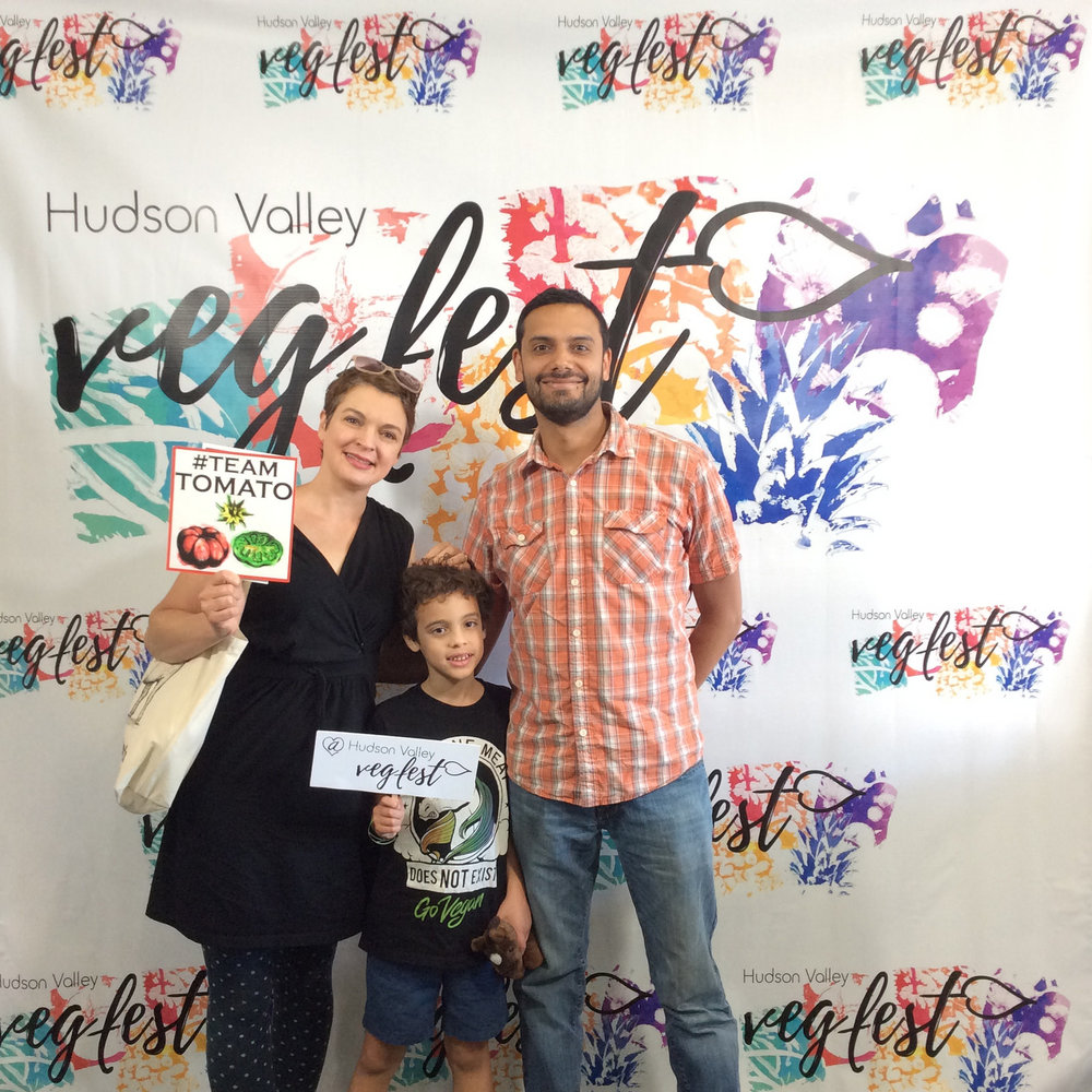 Susan Foster and family at Vegfest.jpg
