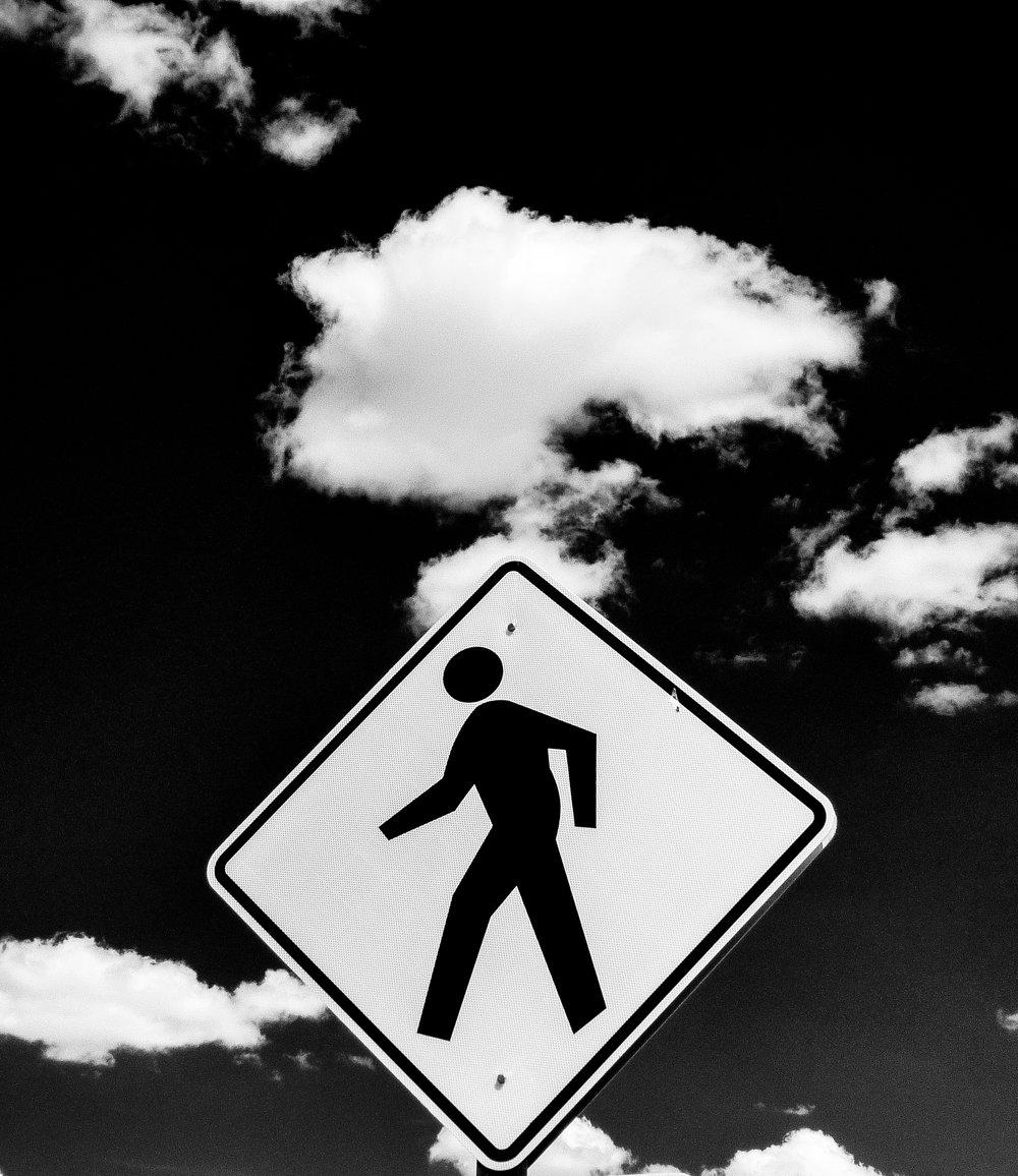Pedestrian Sign-1050463.JPG