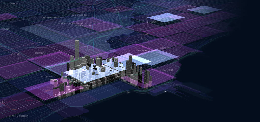 "Image: Truth Labs / Chicago Architecture Foundation (CAF) -- ""Chicago: City of Big Data"""