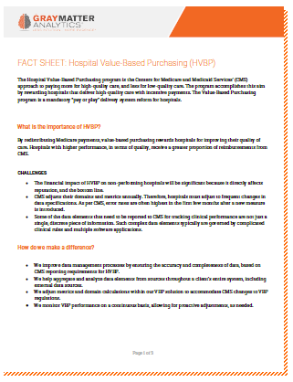Hospital Value-Based Purchasing Fact Sheet