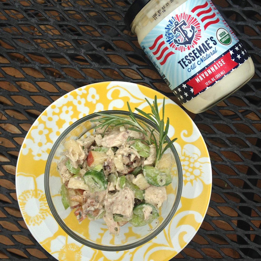 Rosemary Chicken Salad + Tessemae's All Natural Mayonnaise