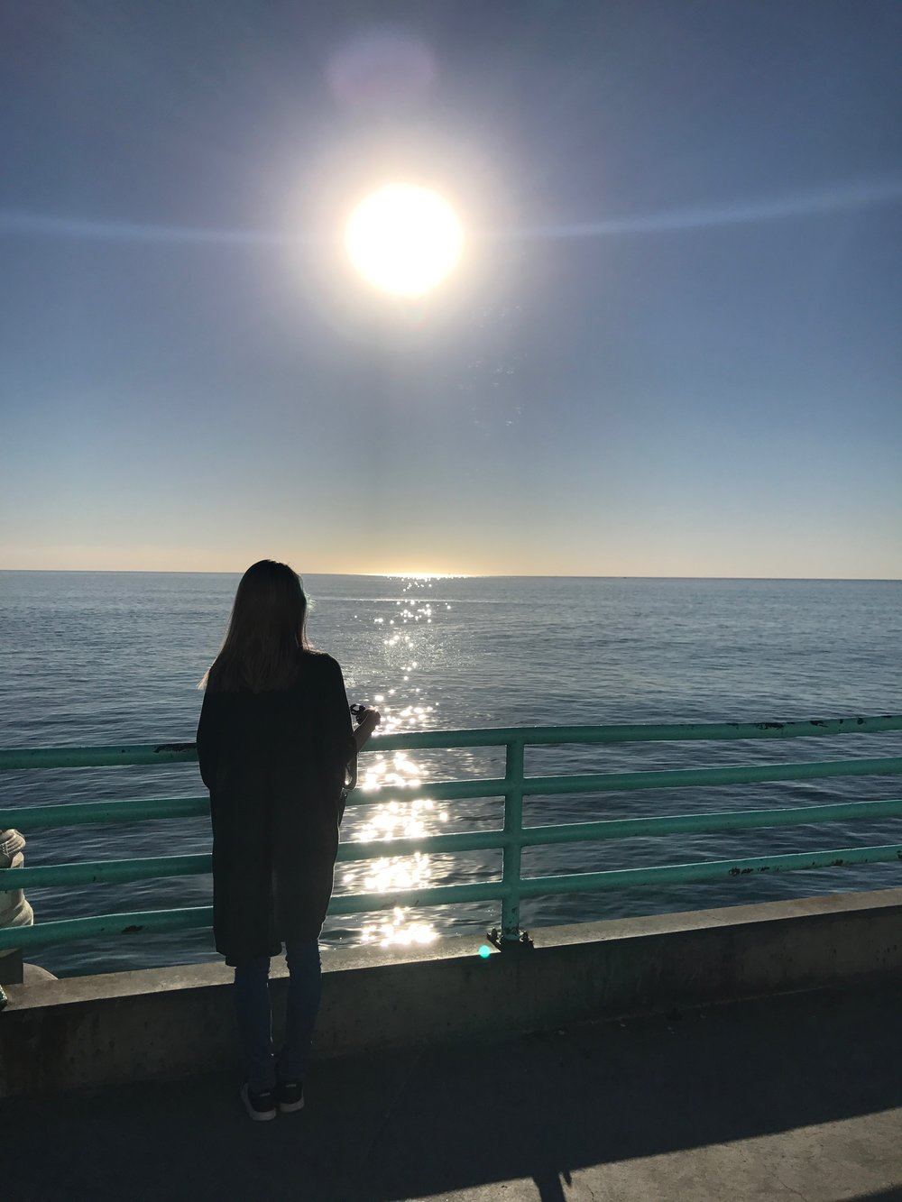 Deep thoughts at Manhattan Beach Pier
