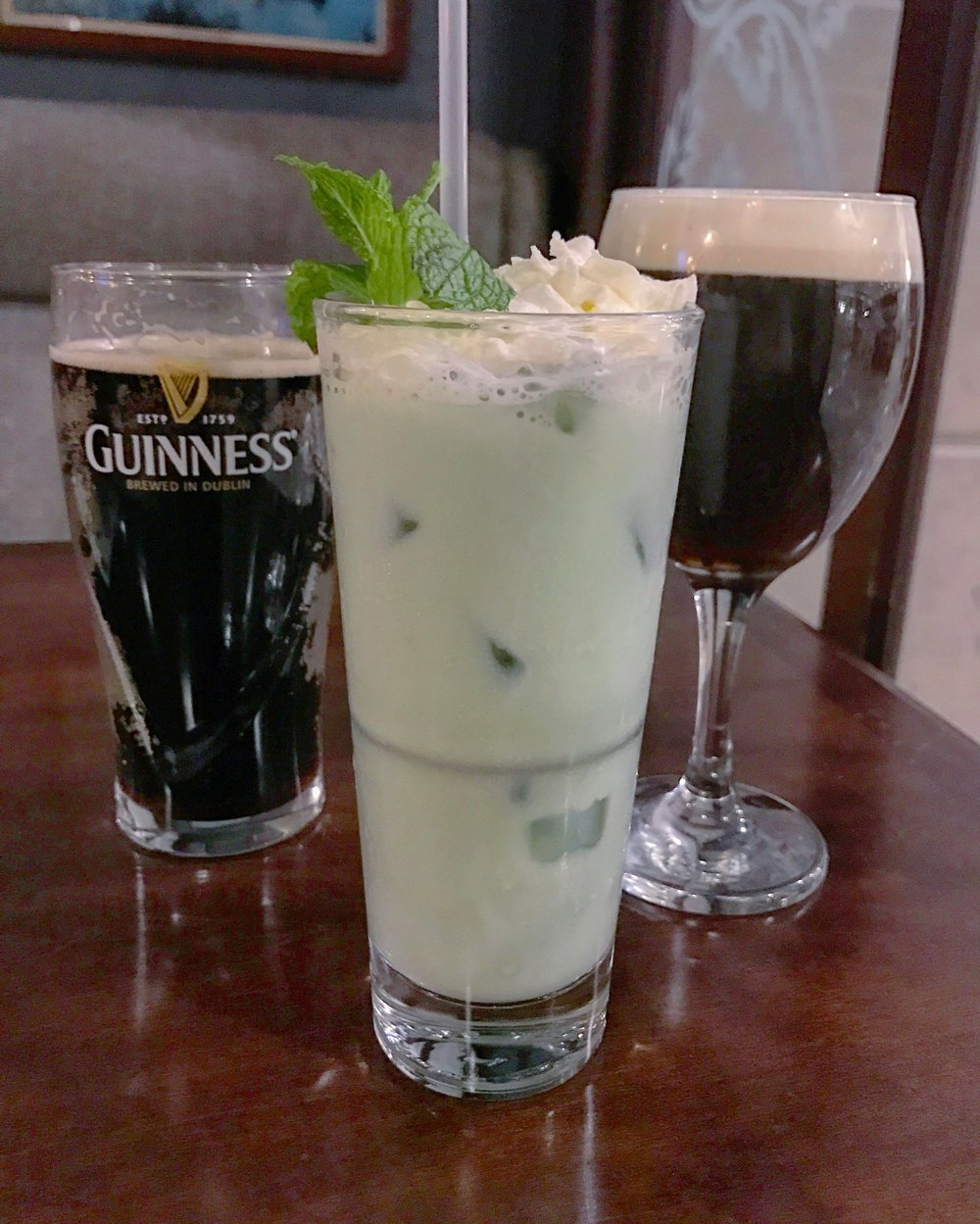 Guinness, Hurricane, and Irish Coffee