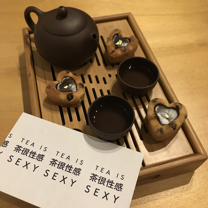Tea is sexy, snacks are cute