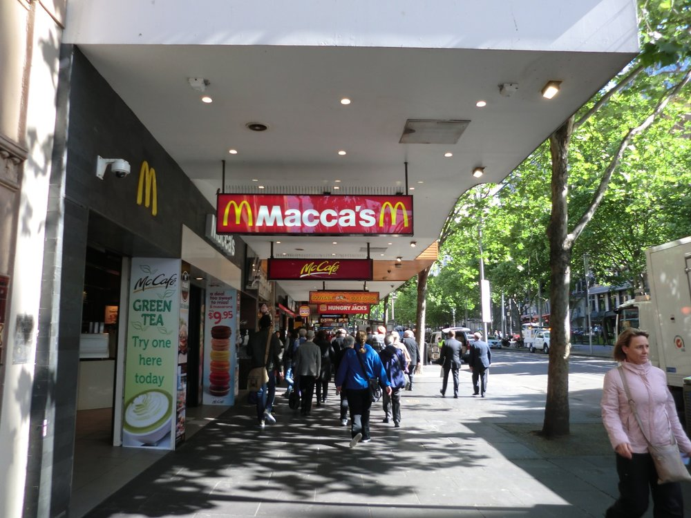 In Melbourne, Australia, MacDonald's is called Macca's. It is the only place in the world (that I know of) where MacDonald's adopted the local's slang name for their restaurant.