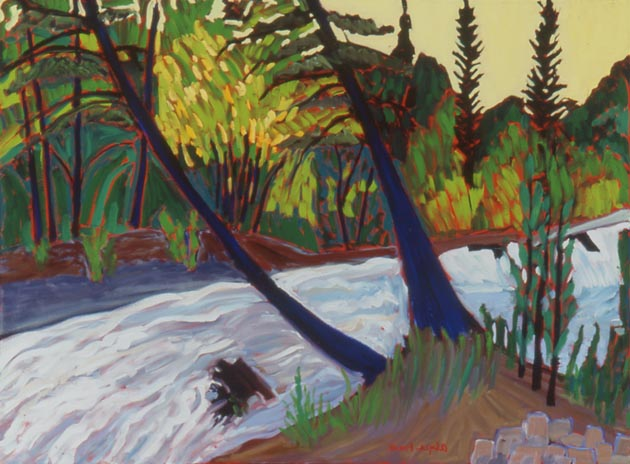 "The Hondo River in Flood, Oil, 30""x40"""