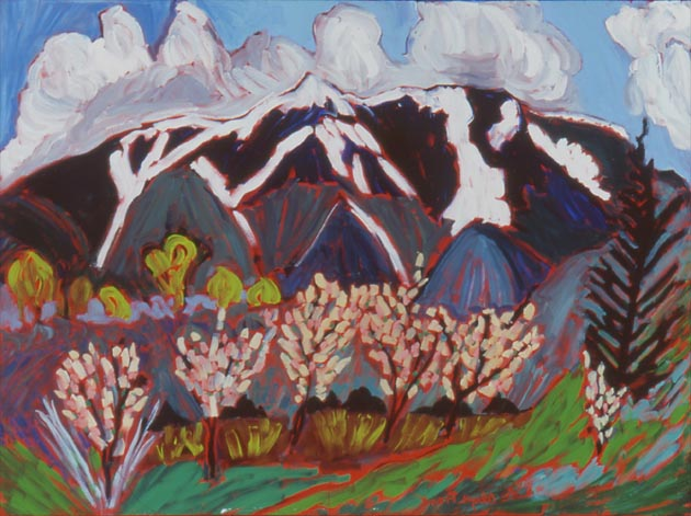 "Late Spring Snow At Toas Mountain, Oil, 30""x40"""